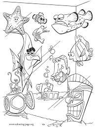 Small Picture Finding Nemo Fish Tank Coloring Page Netart Coloring Coloring Pages