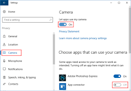 Allow Or Block Let App Use Camera In Windows 10