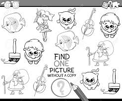 塗り絵幼児幼児教育幼稚園タスクの黒と白の漫画イラスト
