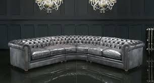 chesterfield sofa grey couch leather corner