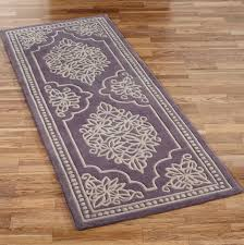 purple and grey runner rug
