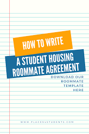 House Rules For Roommates Template Moving In With A Roommate Use Our Roommate Agreement