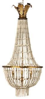 livonia coastal french boho white bead gold leaf chandelier