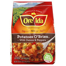ore ida potatoes o brien with onions peppers
