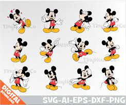 Mickey Mouse svg silhouette Mickey Mouse clipart Mickey Mouse