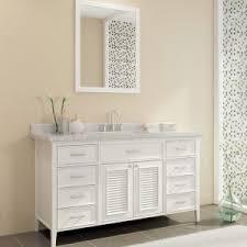 bathroom vanities single sink. ace kensington 61 inch single sink bathroom vanity set in white finish throughout vanities