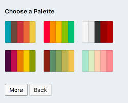 Choose a color palette