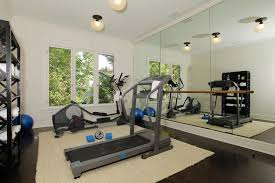 gym flooring trend los angeles traditional home gym decoration