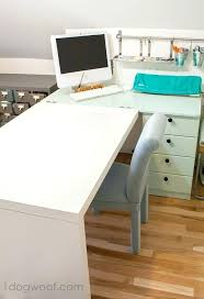 ikea hack desk 2 desks hacked for a new craft desk ikea hackers desk riser