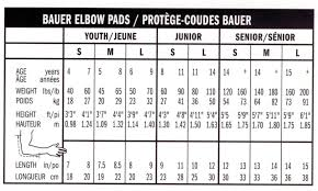 Hockey Elbow Pad Size Chart Bauer Shoulder Pad Sizing Chart Bedowntowndaytona Com