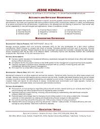 Cover Letter Accounting Bookkeeping Resume Accounting And