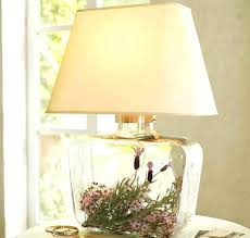 fillable glass table lamps uk put fake flowers inside lamp for spring ideas the
