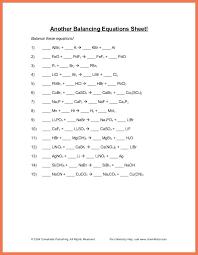 balancing equations worksheet balance chemical ws worksheets answers ba