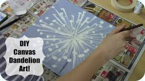 Diy Canvas Painting Diy Canvas Dandelion Painting Maymommy2011 Youtube