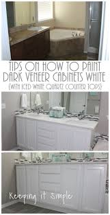 Paint Countertops White Keeping It Simple Tips On How To Paint Dark Veneer Cabinets White
