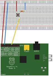 raspberry pi creating a camera safari blog we need to connect the 3v3 pin to the breadboards rail this is the red rail in the diagram since this will give us the power we need