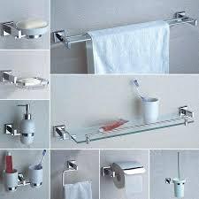 shower towel bar bathroom hardware accessories chrome single towel bar rail toilet paper holder shower soap