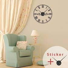 clock wall decals with roman numbers