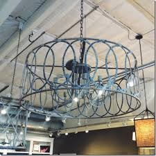 save another large iron chandelier
