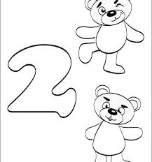 more images of number 2 coloring sheets for toddlers
