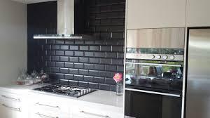 Black Splashback Kitchen Kitchen Splashback Tile Or Glass Infresco Install A Range Of
