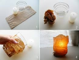 decorating-ideas-glass candle holders paper-sandwich-bags