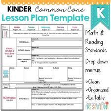 lesson plan template for kindergarten editable lesson plan template kindergarten kindergarten common core