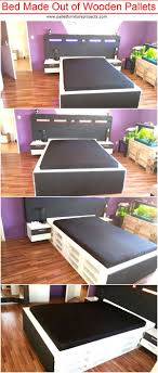 pallets as furniture. Bed Made Out Of Wooden Pallets Pallet Furniture Projects By As For Outstanding Exterior Model