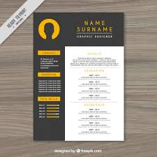 Elegant Resume Templates Interesting Elegant Resume Template Vector Free Download