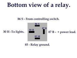 bosch 30 amp relay wiring diagram for 12v and