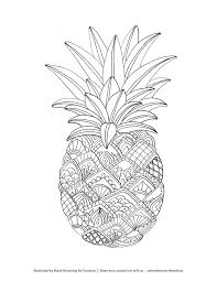Pineapple Coloring Page Only Pages Youth Jewelry Images In Viettiinfo