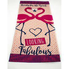 Висока попивателност на плажните кърпи, трайни цветове и стилен дизайн. Plazhna Krpa Fabolous Flamingo