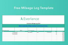 Free Excel Mileage Log Blog Everlance