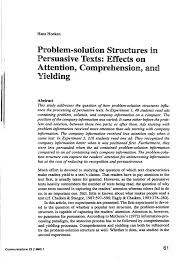 problem solution structures in persuasive texts effects on  about the article