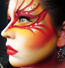 try this makeup for your party fire makeup makeup art