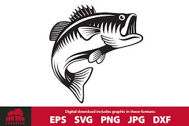 Contact us with a description of the clipart you are searching for and we'll help you find it. Jumping Bass Fish Fishing Cutting File Clipart 601016 Cut Files Design Bundles