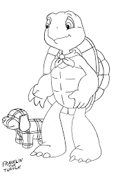 Franklin Turtle Coloring Sketch Free Download