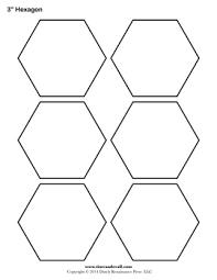 Blank Hexagon Templates | Printable Hexagon Shape PDFs & Printable Hexagon Templates Adamdwight.com