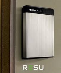 lg chem. resu battery system on wall lg chem h