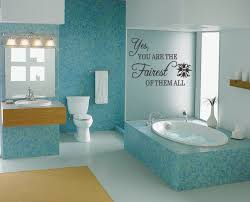 blue ceramic wall tile with extra large wall es also using wood vanity with mirror and lights also white toilet for modern bathroom decorating ideas