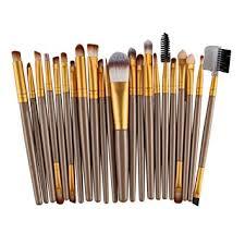 22pcs makeup brush tools set wool foundation brush eyeliner brush eyeshadow brushes eyebrow brush gold