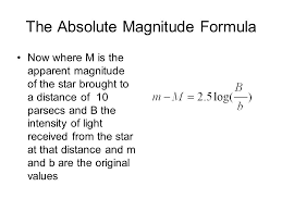the absolute magnitude formula
