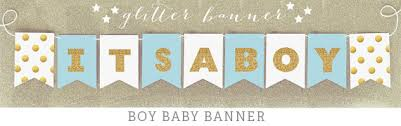baby shower banners its a boy banner glitter baby shower banner decorations