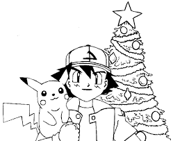 Small Picture Pokemon Christmas Coloring Pages 1 olegandreevme
