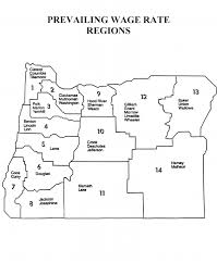 prevailing wage rates for public works contracts in oregon