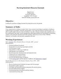 Cna Resume Summary Examples Examples Of Cna Resume Cna Examples Of Nursing Assistant Resumes 3