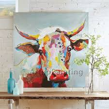 painting on canvas of cow painting wall pictures  on two cows canvas wall art with painting on canvas of cow painting wall pictures for living room