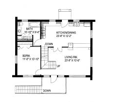 Leverette Raised Log Cabin Home Plan D    House Plans and MoreLog Cabin House Plan First Floor   D    House Plans and More