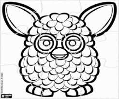 Kleurplaat Furby Puzzel Kleurplaten