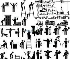 创意黑色工作人物图标合集矢量素材下载 非凡图库